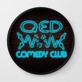 QED Comedy Club Wall Clock