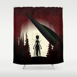 Aliens in the Forest Shower Curtain
