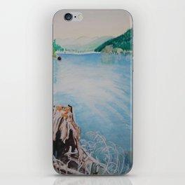 Oakridge Reservoir #4 watercolor painting iPhone Skin
