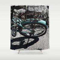 bike Shower Curtains featuring bike by gzm_guvenc