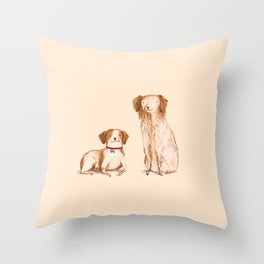 Brittany Spaniels Throw Pillow