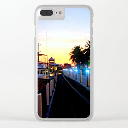 Night falls over lake Entrance Clear iPhone Case