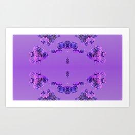 Flower Buds Violet Art Print
