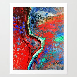 POUR ART 9 ALTERNATIVE 1 Art Print