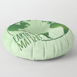 Earth Matters - Earth Day - Grunge Green 01 Floor Pillow