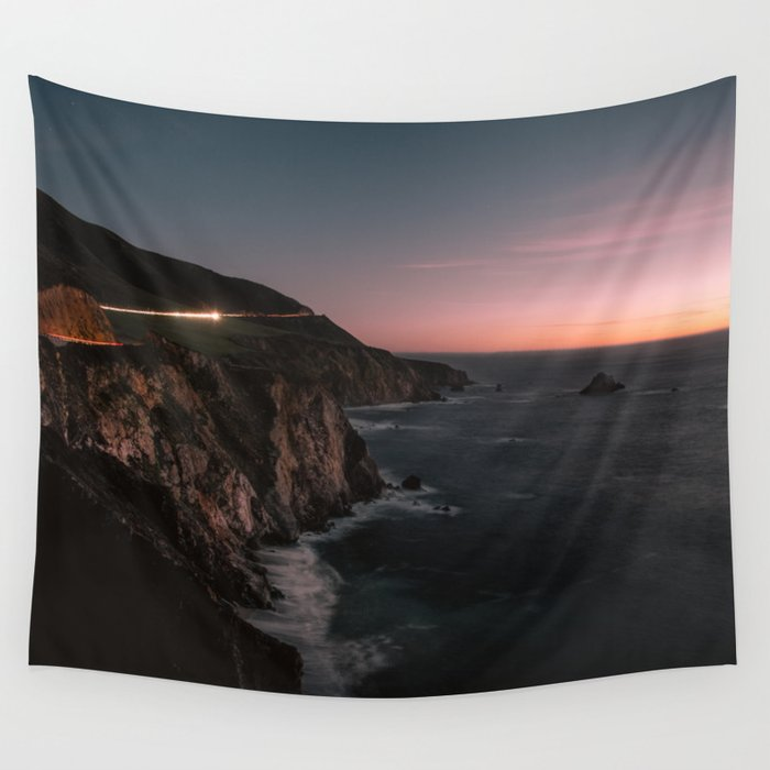 Big Sur Sunset Wall Tapestry