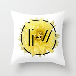 Trench Yellow Flower 2 Throw Pillow