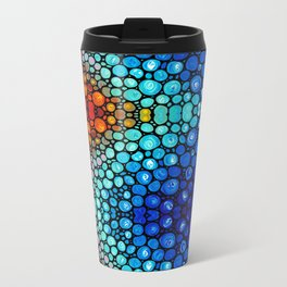 Abstract 2 - Colorful Original Art Painting by Sharon Cummings Primary Colors Metal Travel Mug