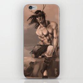 Deer God Man iPhone Skin