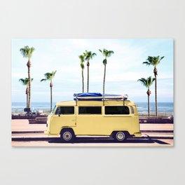 Surfer's Yellow Van Canvas Print