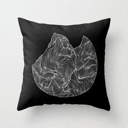 Inverted Crevice Throw Pillow