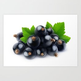 Black currants Art Print