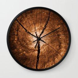 Cracked Wood Galaxy Wall Clock