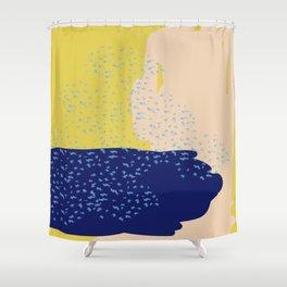 Mustard Sea Shower Curtain