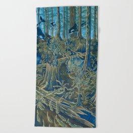 Forest Salmon Run  Beach Towel
