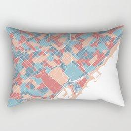 Colorful Barcelona map Rectangular Pillow