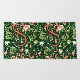 Swirly Trendy_Green Beach Towel
