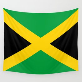 Jamaican flag, flag of Jamaica Wall Tapestry