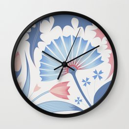 knapweed and dandelion Wall Clock