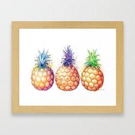 Three Pineapples Framed Art Print