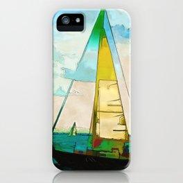 Night Sailing  -  Sailboats iPhone Case