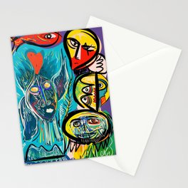 Red Fish and a Spirit of Love Street Art Graffiti Stationery Cards