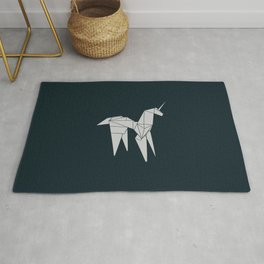 Blade R. Unicorn, Origami Artwork for Wall Art, Prints, Posters, Tshirts, Women, Men, Kids Rug