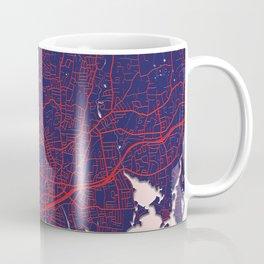 Stamford, CT, USA, Blue City Map Coffee Mug
