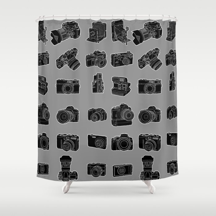 Cameras and Film Shower Curtain