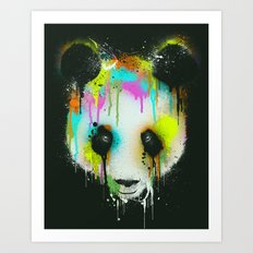 Technicolour Panda Art Print