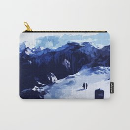 Tardis Art At The Snow Mountain Carry-All Pouch