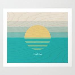 SUN RAYS (VS) Art Print