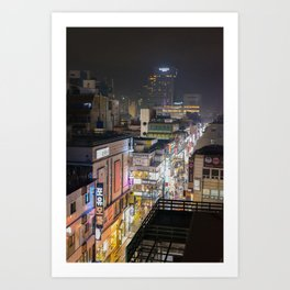 Daegu city streets Art Print