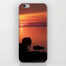 Peaceful Reflections of Nature at Dusk iPhone Skin