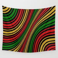 rasta Wall Tapestries featuring Rasta Color Work by Fine or Famous