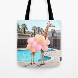 Giraffe Palm Springs Tote Bag