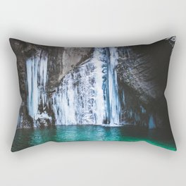 Glacier Waterfall Rectangular Pillow