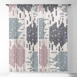 Starry shapes Sheer Curtain