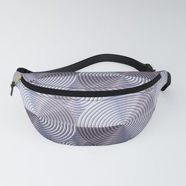 Shiny silver metal embossed surface Fanny Pack