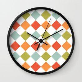 Geometric Spring Pattern Wall Clock