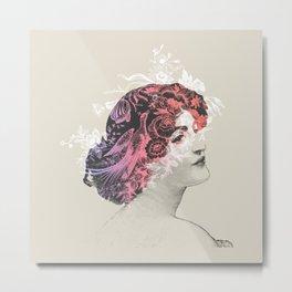Flowers In Your Hair Metal Print