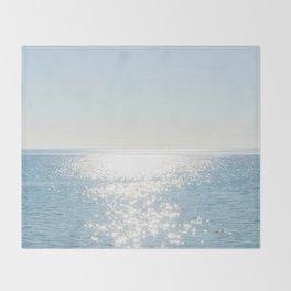 Electric Blue Ocean Throw Blanket