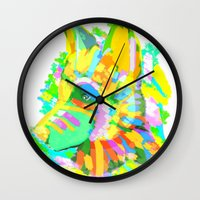 howl Wall Clocks featuring Howl by Nedblr