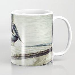 Sunbathing Pelican Coffee Mug