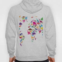 Dinosaur Map of the World Map Hoody