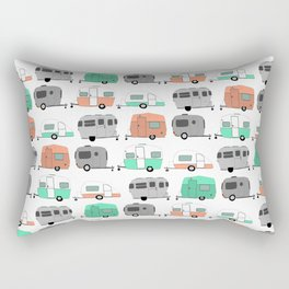 Vintage caravan pattern Rectangular Pillow