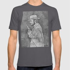 The Man with No Name Mens Fitted Tee LARGE Asphalt