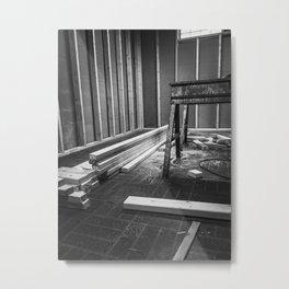 Framing Abington, Black and White Metal Print