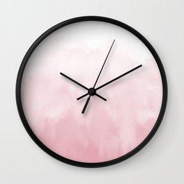 Pink watercolour Wall Clock