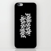 philosophy iPhone & iPod Skins featuring Philosophy, Art & Science by John Langdon